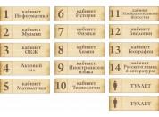 Школьные таблички №5